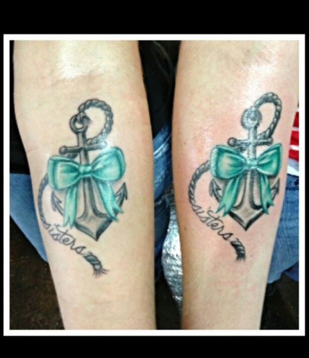 Family sisters bow and anchor tattoos tattoo for Sister tattoos pinterest