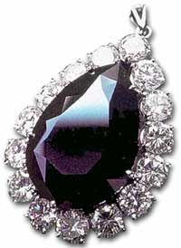 The Amsterdam Diamond is a rare black diamond of African origin and is reported to be completely black. It weighs 33.74 carats, has 145 facets and was cut from a 55.85-carat rough. The stone was first shown in February, 1973, at D. Drukker & Zn., Amsterdam. It was auctioned off at www.christies.com in November, 2001, for $352,000, setting a world record for the highest price fetched by black diamond at auction.
