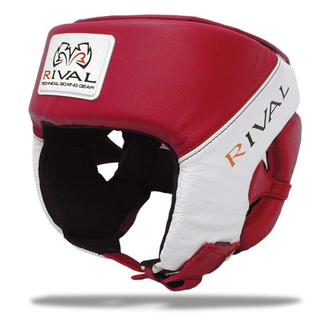Rival RHGC1 Amateur competition headgear. USA Boxing Approved. Red & White version