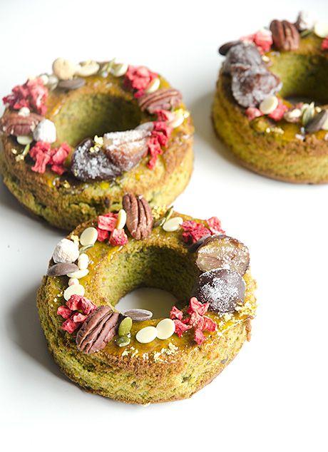 抹茶と栗のリングケーキ