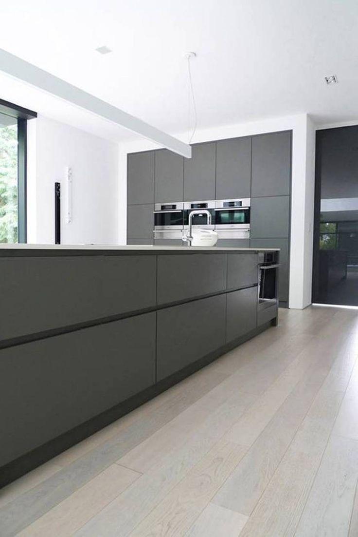 17 best ideas about modern grey kitchen on pinterest - Modern contemporary kitchen cabinet design ...