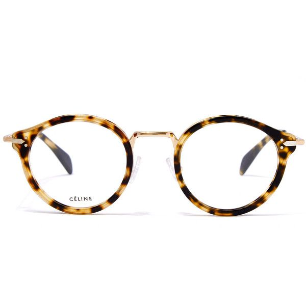 Celine Gold-Tone Joe Round Metal Glasses (€395) ❤ liked on Polyvore featuring accessories, eyewear, eyeglasses, metal glasses, celine eyewear, rounded glasses, round eye glasses and lens glasses