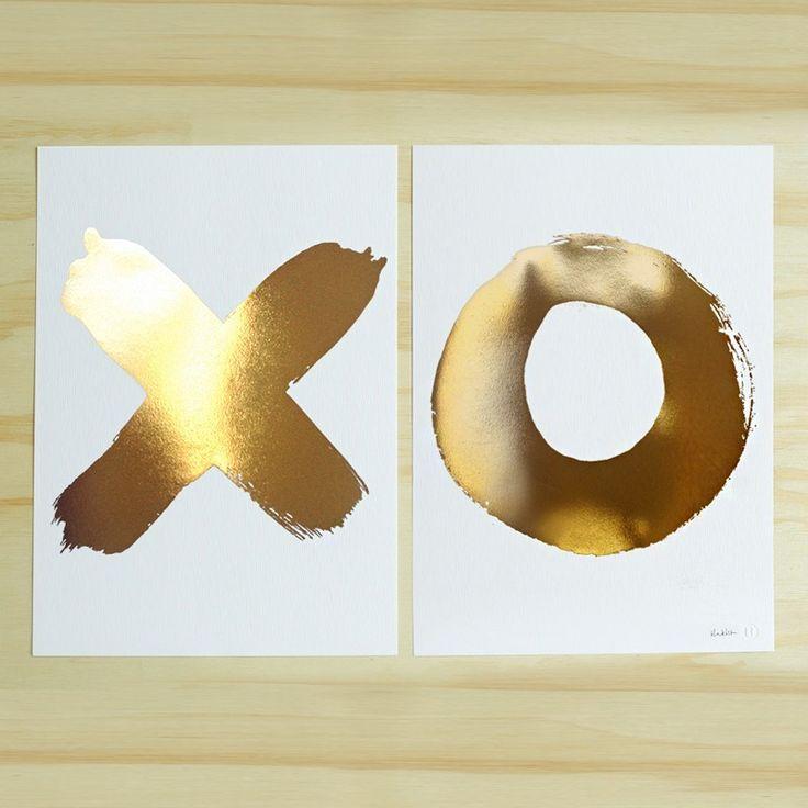XO Gold Foil Print Set | Unframed