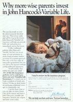 John Hancock Variable Life Insurance 1984 Ad Picture