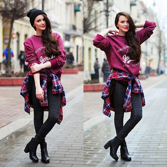 Love this look!  A little grunge (by Karolina Ościk) http://lookbook.nu/look/4674801-a-little-grunge