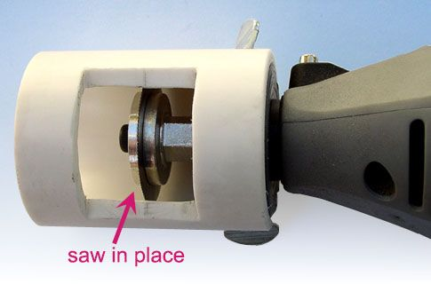PVC homemade guard for dremel saw