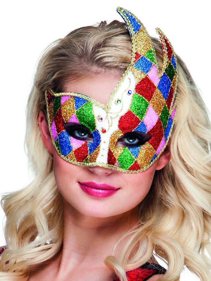 Loup vénitien losanges multicolores adulte : 6€90