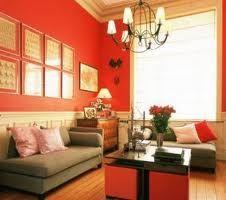 fresh palette: Living Rooms, Rich Color, Bright Rooms, Red Wall, Wall Color, Bold Color, Orange Wall, Red Rooms, Paintings Colour