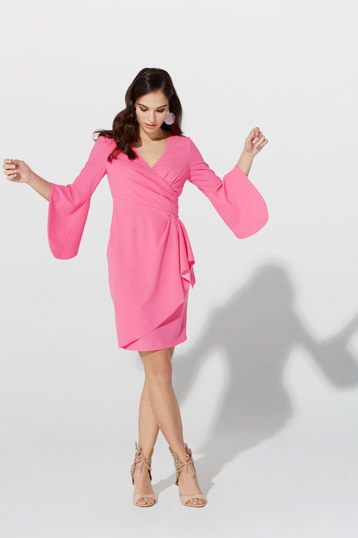 936d49b955e0e Vestido de la Colección Primavera Verano 2019 de TERIA YABAR en georgette  de licra por debajo