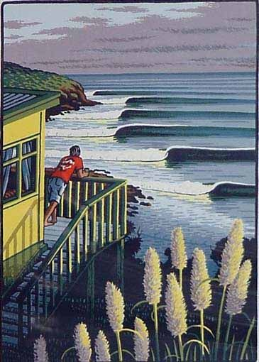 Rising Swell Print by Tony Ogle for Sale - New Zealand Art Prints #surf #art