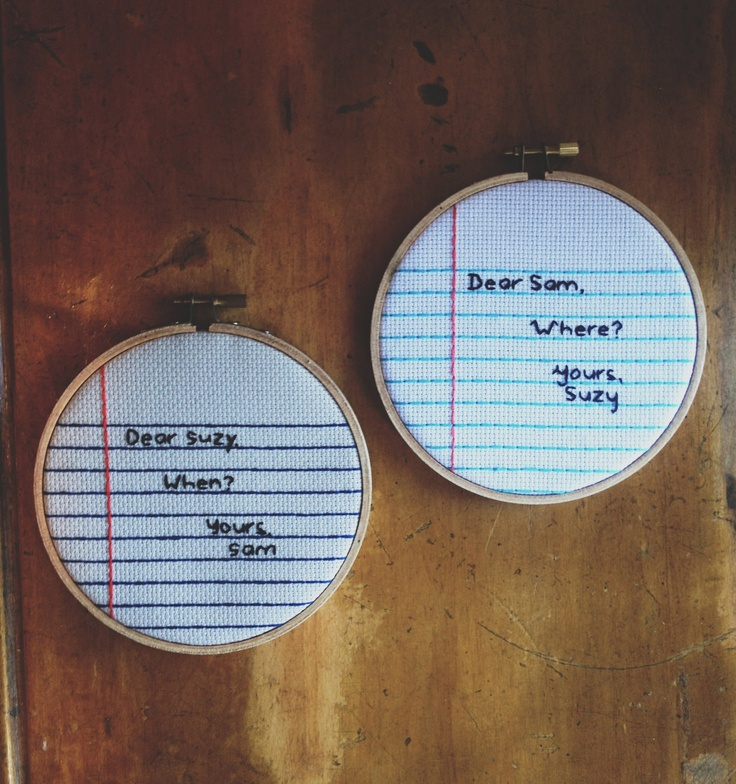 OMG moonrise kindgom love notes / suzy and sam / letters / quotes / wes anderson. $44.00, via Etsy.