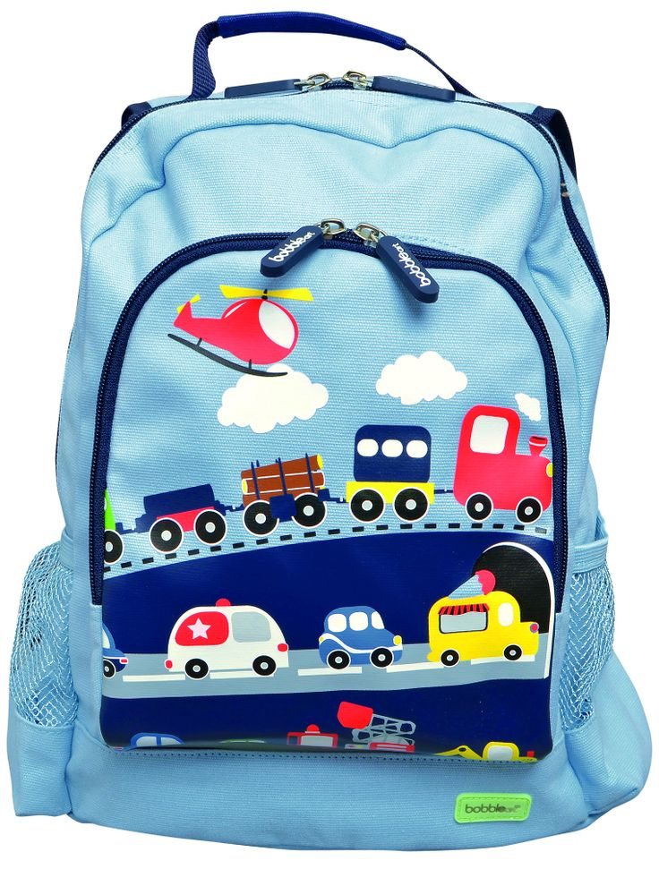 Traffic Canvas Backpack | Party TwinkleThis gorgeous canvas backpack is designed by Bobble Art - one of Australia's leading suppliers of iconic accessories for children. Bobble Art's highly emotive range appeals to both parents and children alike, offering unique and iconic designs.
