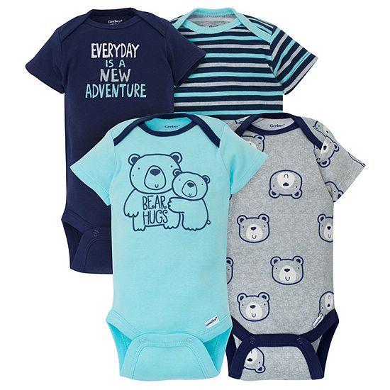 cb597f8d91d54 Gerber 4-pc. Bodysuit Set-Baby Boys