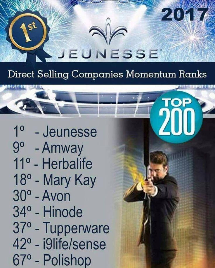 Que alegriaaaaa !!!  Ninguém segura mais! Ranking das melhores empresas do mundo em Vendas Diretas em apenas 7 anos de existência 1 ano e meio no Brasil!  Jeunesse a número 1!!!  Feliz demais em fazer parte da liderança desta empresa que deixará um legado em nosso país e no mundo! #141paises  http://ift.tt/2ahvjo6  http://ift.tt/2eLE78N  #JeunesseTop1 #estamosapenascomeçando  #empreendedorismo  #empreender #emprendedor #negocioglobal #oportunidadedenegocio #negocio #oportunidade #mmn…