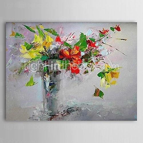 Pintados à mão Floral/Botânico 1 Painel Tela Pintura a Óleo For Decoração para casa de 2017 por €64.48