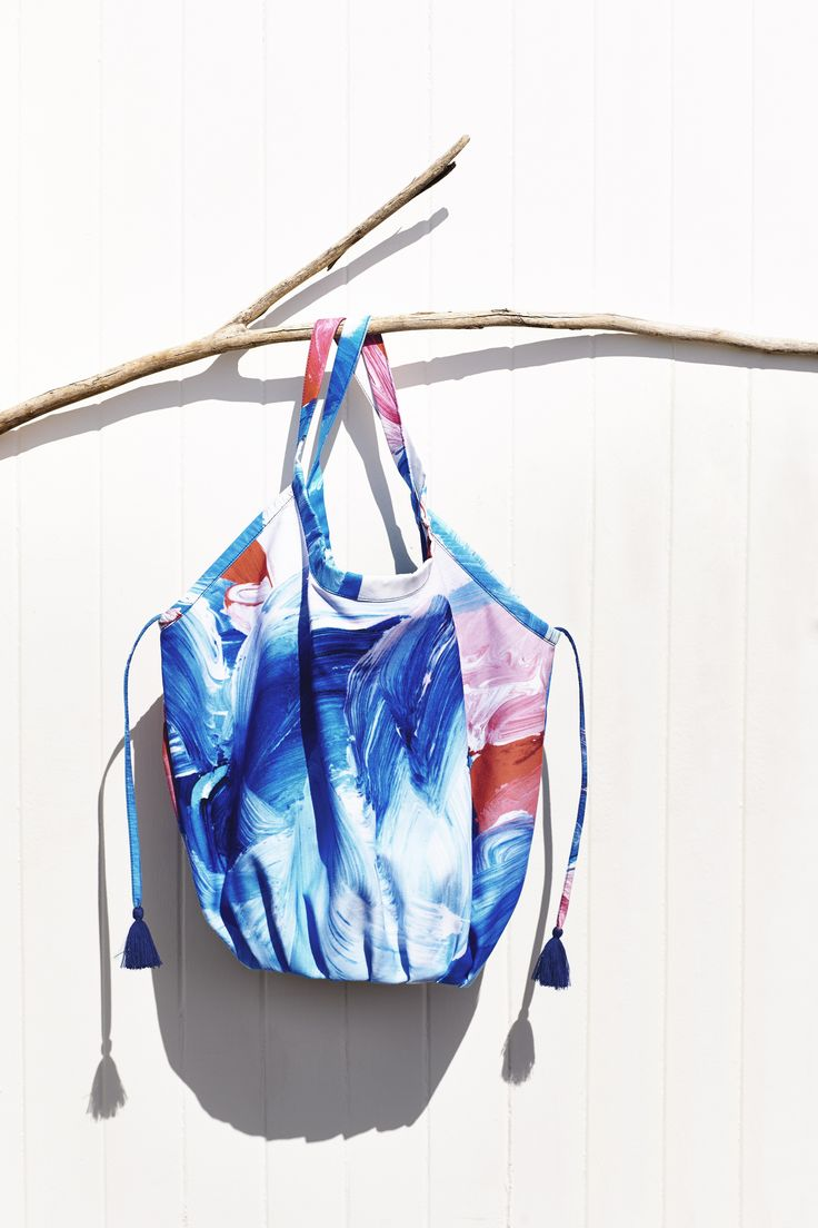 Shilo Limited Edition reversible bag.   Shilo Engelbrecht renowned Australian artist collaborates with Sportscraft. Just in time for Christmas, we collaborated on a limited edition collection of beach essentials with renowned Australian artist Shilo Engelbrecht. Shilo is known for her bold artworks that translate seamlessly onto textiles and she has garnered international acclaim and recognition by the likes of Missoni and Kit Kemp. Read more on the blog > goo.gl/oIDSIL