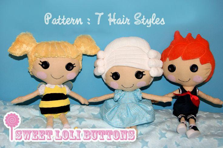 DIY Lalaloopsy Rag Doll PatternDiy Lalaloopsy, Dolls Pattern, Dolls Hair, Diy Crafts, Sewing Pattern, Doll Hair, Lalaloopsy Sewing, Rag Dolls, Lalaloopsy Rag