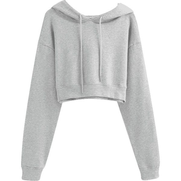 Drawstring Cropped Plain Hoodie ($28) ❤ liked on Polyvore featuring tops, hoodies, sweatshirt hoodies, hoodie crop top, crop tops, cropped hoodie and cropped drawstring hoodie