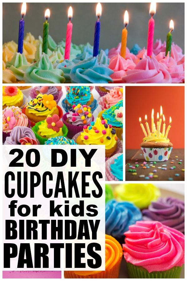 If you're sick of making the same, boring birthday cakes for your kids year after year, this collection of 20 adorable DIY cupcakes for kids birthday parties will give you the inspiration you need to find the perfect birthday cupcakes for boys and girls!