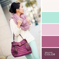 Look fresh, con un toque de elegancia, el color de los emperadores el púrpura ;)