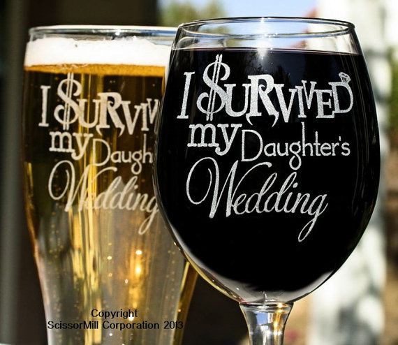 Parents Wedding Gift I Survived My Daughters by ScissorMill