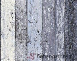 AsCr Surf Sloophout blauw - AsCr Surf (behang) - AsCr (As Creation behang) - >Behang KIDS + Baby - Behangstore