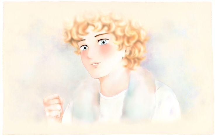 """""""Giancarlo esulta"""". Illustrazione di Laura M. Cecilia Ferro per il suo romanzo per ragazzi """"Vivere a Venezia"""" (Youcanprint 2016)"""
