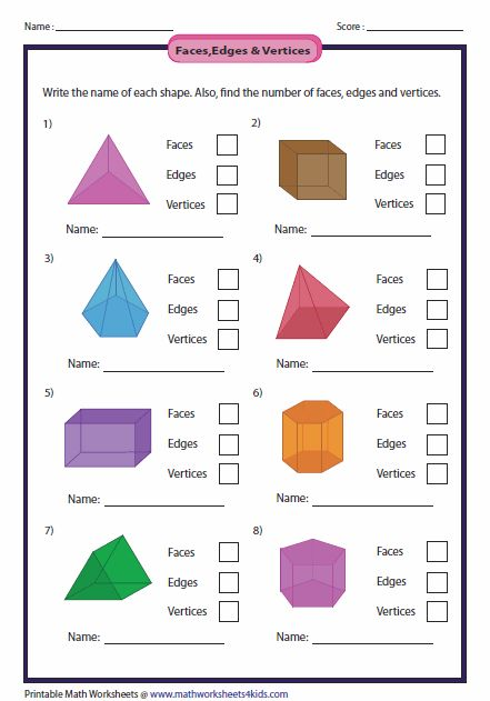 Properties Of 3d Shapes Primary Math Shapes Worksheets