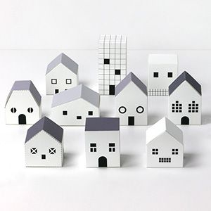 GHOST TOWN - Haunted Houses for Halloween Treats by Mr.Printables.com