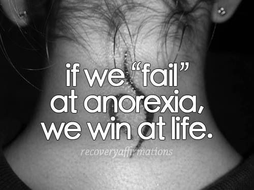 There is no winning when it comes to eating disorders. #anorexia #recovery #eatingdisorders