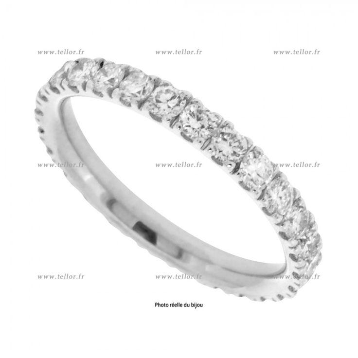 alliance diamant Tour complet micro seri brillant 1,10ct or 18 carat