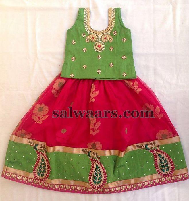 Mirchi Jute Red Lehenga - Indian Dresses