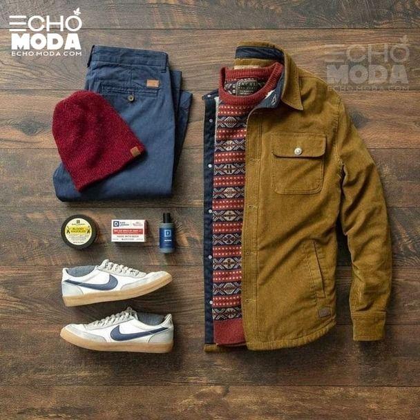 25 طقم ملابس رجاليه كاجوال منسق شتاء 2021 Sweater Weather Outfits Mens Clothing Styles Mens Fashion Casual Outfits