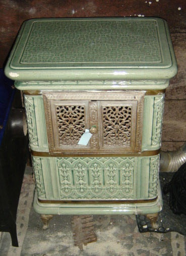 19th century French stove from Alsace region.
