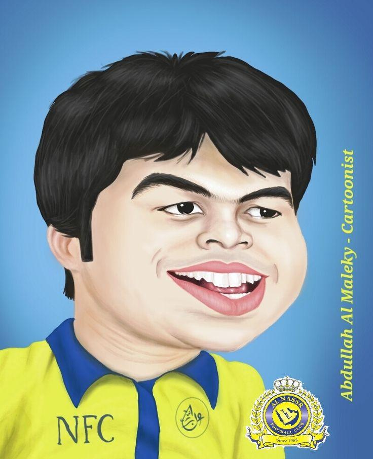 يحيى الشهري كاريكاتير بورتريه  caricature portrait yahya alshehry