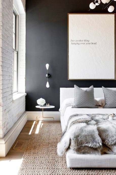 urban life // city living // urban life // luxury life // stylish // bedroom // interior // wall art // home decor //
