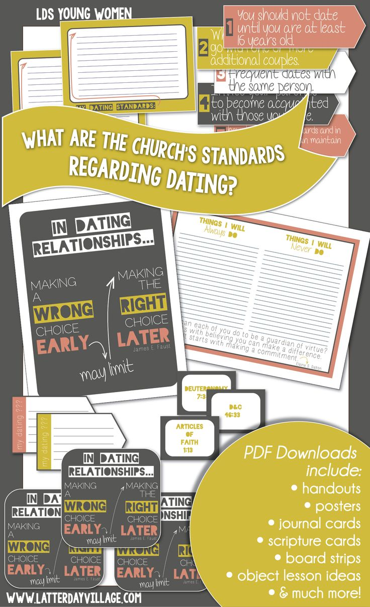 Lds dating standards - Tuscarawas County Convention & Visitors Bureau