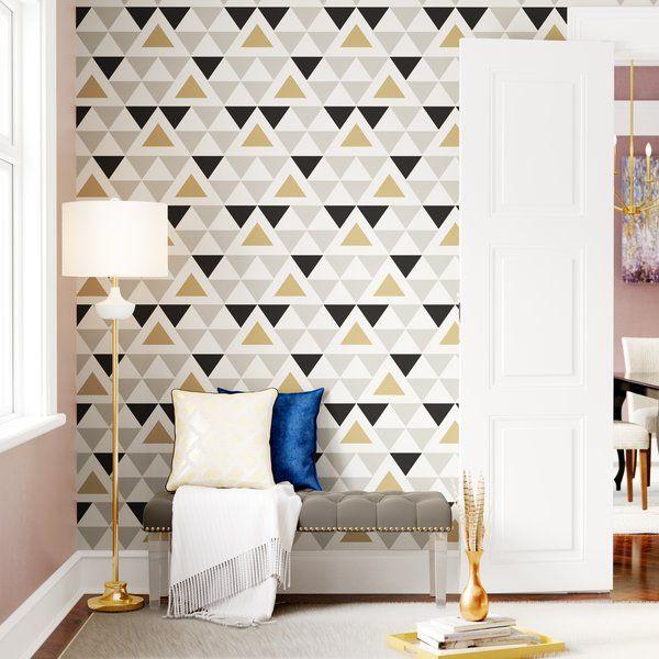 Rodden Triangle 16 5 L X 20 5 W Geometric Peel And Stick Wallpaper Roll Reviews Joss Main Peel And Stick Wallpaper Wallpaper Roll Wall Design