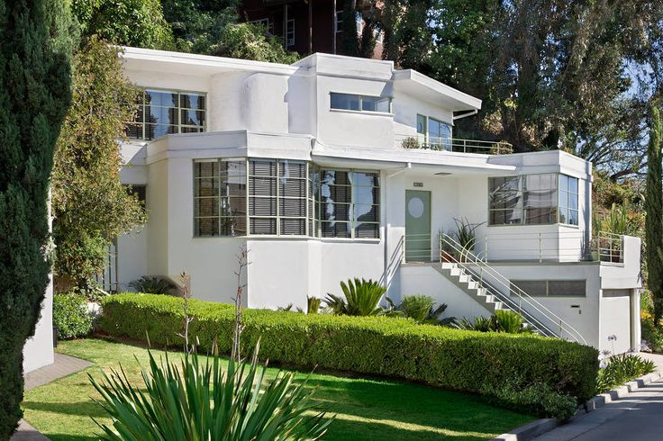 367 best art deco streamline houses images on pinterest for Art deco house design