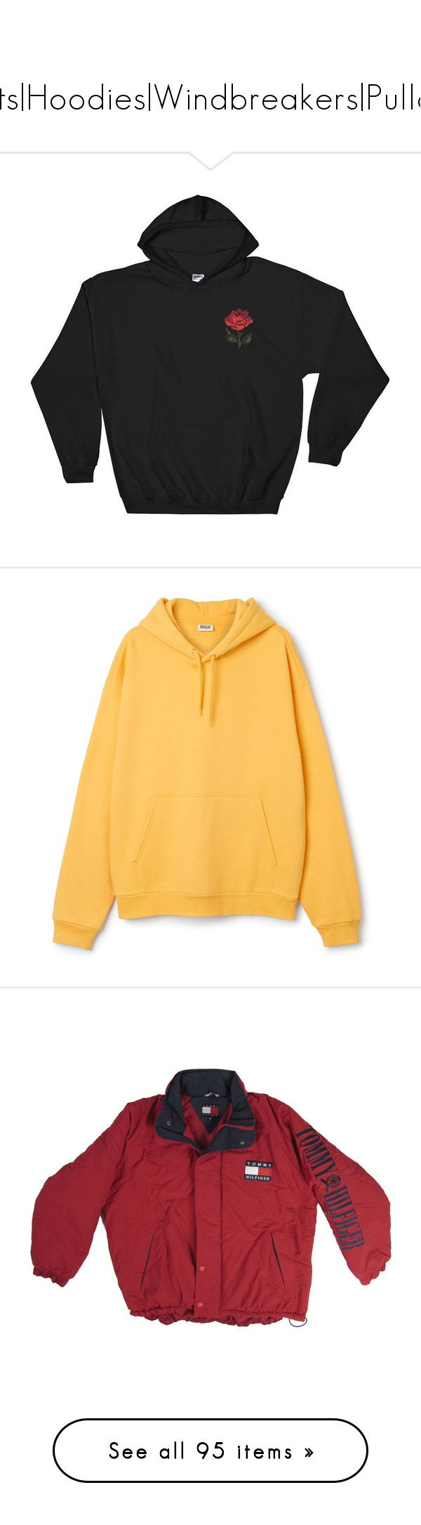 """""""Jackets Hoodies Windbreakers Pullovers"""" by ayepaigee ❤ liked on Polyvore featuring tops, hoodies, sweaters, shirts, black, sweatshirts, women's clothing, embroidered hoodies, sports shirts and checkered shirt"""