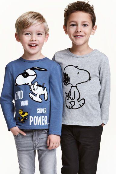 Lot de 2 T-shirts - Bleu/Snoopy - ENFANT | H&M FR 1