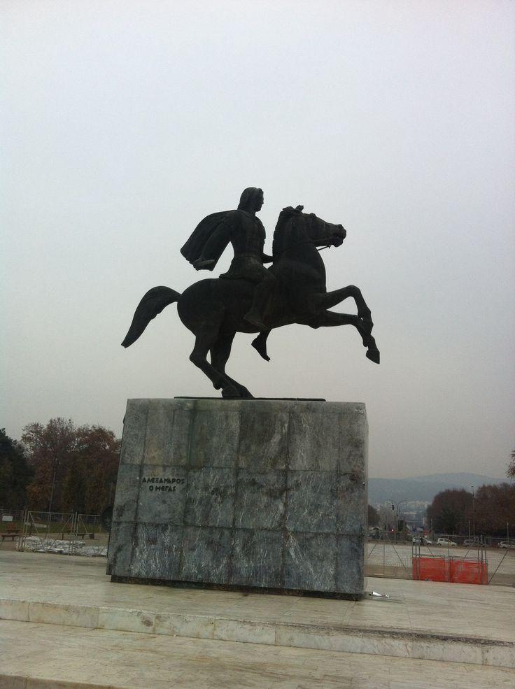 Great Alexander statue Thessaloniki Greece