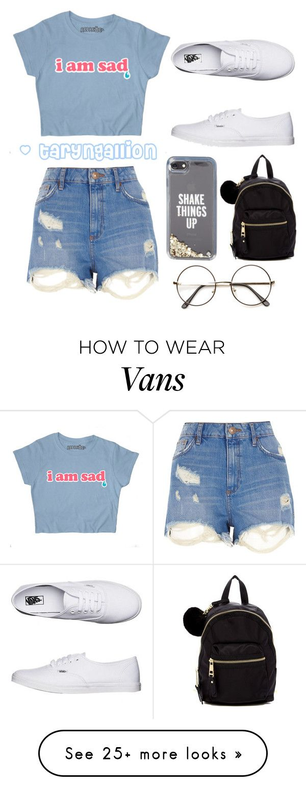 """I know what it feels like to be young and single"" by taryngallion on Polyvore featuring River Island, Vans, Madden Girl and Kate Spade"