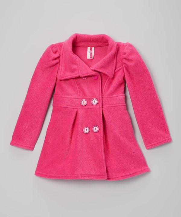 American Kids Pink Peacoat - Girls | Kid Girls and Toddler girls