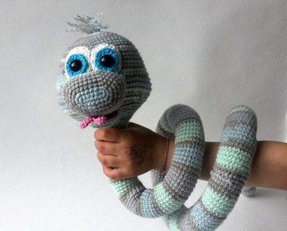 Crochet pattern Elsa the cute snake