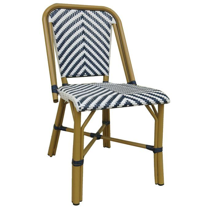 Rufina Modern Cafe Bistro Stacking Patio Dining Chair Patio