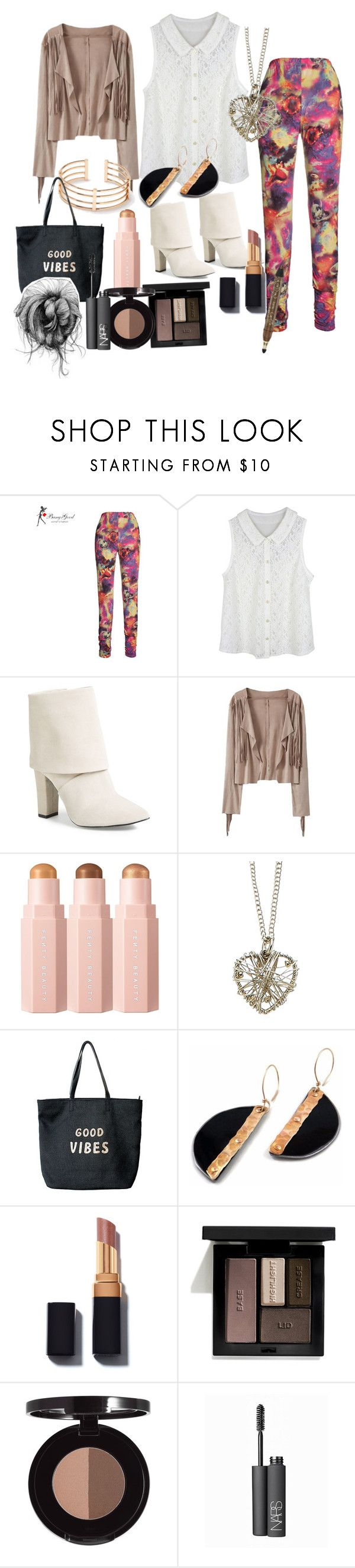 """""""Sammi McCall's party outfit"""" by samtiritilli ❤ liked on Polyvore featuring Vince Camuto, Accessorize, Venus, Victoria's Secret, tarte, Anastasia Beverly Hills and NARS Cosmetics"""
