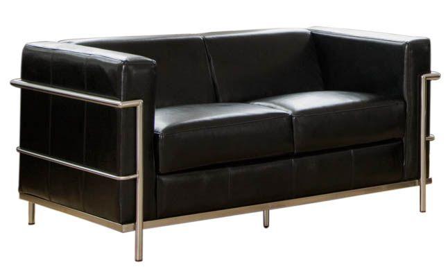 sofas designer leather le corbusier bauhaus style stylehive mid century modern furniture. Black Bedroom Furniture Sets. Home Design Ideas