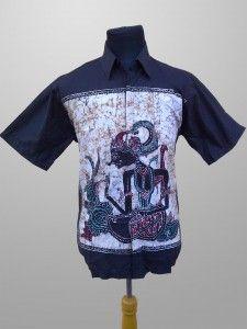 Baju Batik Kombinasi Tulis Pria Terbaru Motif Wayang Kode KT 33 Kirim Pesan ke 082134923704