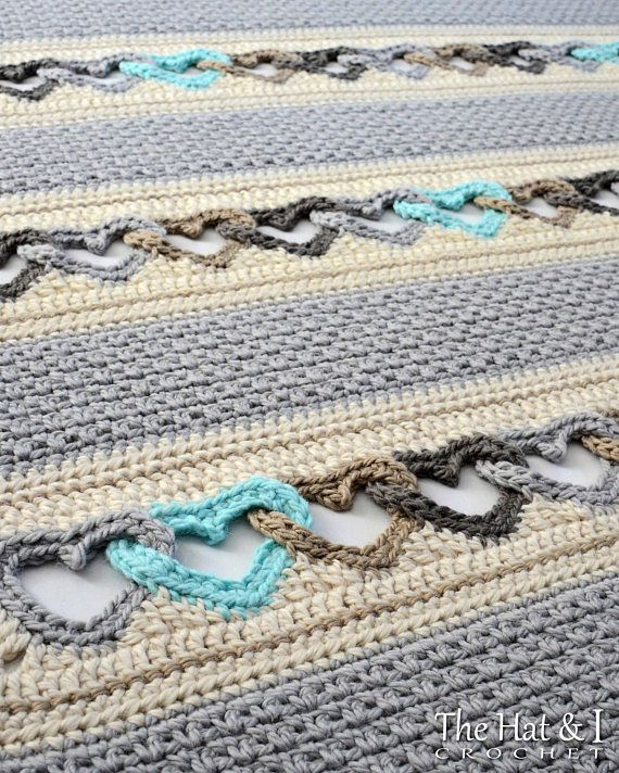 Crochet Heart Afghan.  Pattern must be purchased.